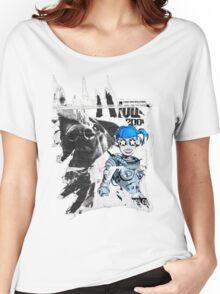 accidental art series robot girl and rottweiler Women's Relaxed Fit T-Shirt
