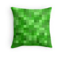 Minecraft Creeper replica Throw Pillow