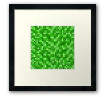 Minecraft Creeper replica Framed Print