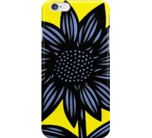 Clandestine Flowers Yellow Blue Black iPhone Case/Skin
