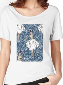 Swan Lake Snowstorm Women's Relaxed Fit T-Shirt