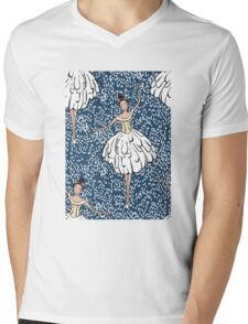 Swan Lake Snowstorm Mens V-Neck T-Shirt
