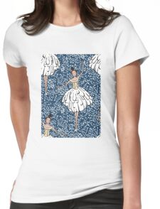 Swan Lake Snowstorm Womens Fitted T-Shirt