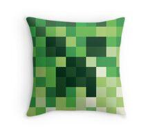 Mosaic 1483 - Minecraft Creeper Inspired Throw Pillow