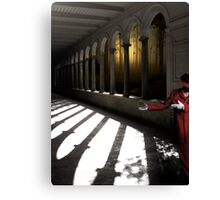 Walk this way...out the door, one cross each, line on the left Canvas Print