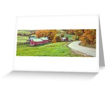 Jenne Farm Vermont Panoramic Greeting Card