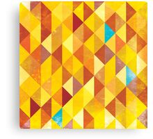 Mosaic 1485 - Red Orange Hipster Fire Canvas Print