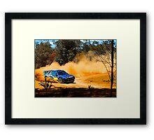 Chris Atkinson slides through Carlos Corner Framed Print