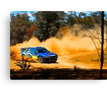 Chris Atkinson slides through Carlos Corner Canvas Print