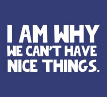 I Am Why We Can't Have Nice Things  T-Shirt