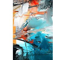 Abstract Blue Print - Reef  Photographic Print