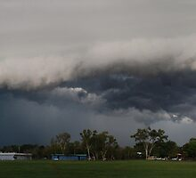 Shelf Cloud Panorama by Jacci Ingham