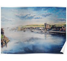 Newhaven Harbour Mist (Sussex) Poster