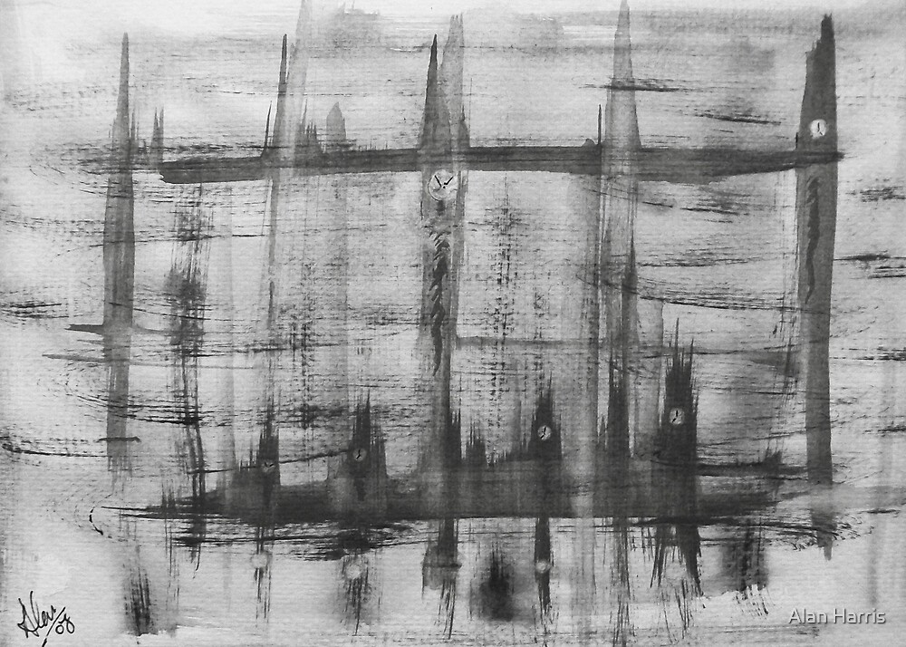 """Clock towers"" by Alan Harris"