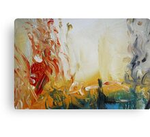 Abstract Orange Black Print from Original Painting  Canvas Print