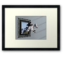 THE GRASS IS GREENER ON THE OTHERSIDE...... Framed Print
