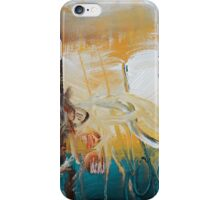 Blue Yellow Abstract Print  iPhone Case/Skin