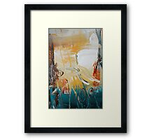 Blue Yellow Abstract Print  Framed Print