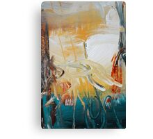 Blue Yellow Abstract Print  Canvas Print