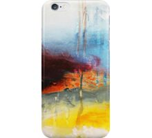 Yellow Blue Abstract Art Print iPhone Case/Skin