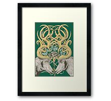 stoned deer Framed Print
