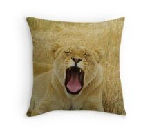 The Yawn part 2 Throw Pillow