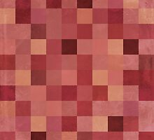 Mosaic 1492 - Pantone Marsala Squares by Carl Huber
