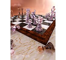 A Game of Chess Photographic Print