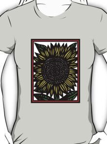 Elision Flowers Yellow Red Black T-Shirt
