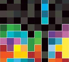 Mosaic 1494 - Tetris Mosaic by Carl Huber