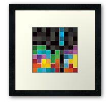 Mosaic 1494 - Tetris Mosaic Framed Print