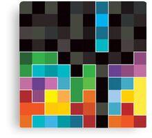 Mosaic 1494 - Tetris Mosaic Canvas Print