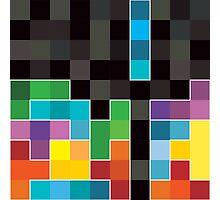 Mosaic 1494 - Tetris Mosaic Photographic Print