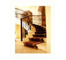 Stairway in Playa Del Carmen, Royal Hideaway Art Print
