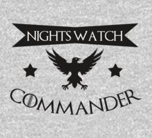 I am a commander in the nights watch - game of thrones by romysarah