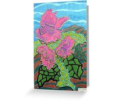 231 - FLORAL DESIGN - 03 - DAVE EDWARDS - COLOURED PENCILS - 2008 Greeting Card