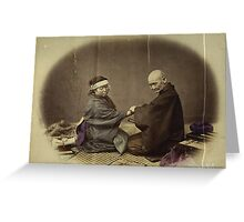Japanese Doctor and Patient 1868 Photograph Enhanced Greeting Card