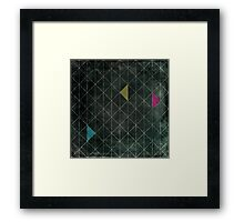 Mosaic 1497 - Dark Hipster Triangles Framed Print