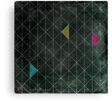 Mosaic 1497 - Dark Hipster Triangles Canvas Print
