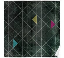 Mosaic 1497 - Dark Hipster Triangles Poster