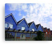 Blue Houses Canvas Print