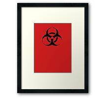 BIOHAZARD Sign warning symbol Framed Print