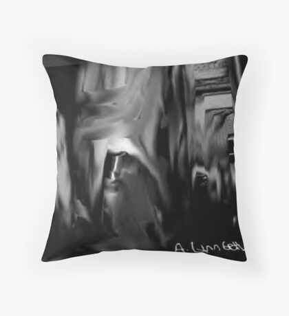 Buildings can cry Throw Pillow