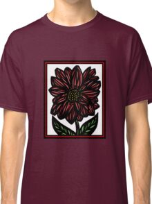 Nullifidian Flowers Red White Black Classic T-Shirt