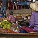 Damner Saduak floatting market by Cvail73