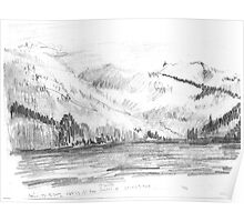 APRIL 25 - 26 - 2002 - HWY 23 40 KM NORTH OF REVELSTOKE BC(PENCIL DRAWING)(C2002) Poster