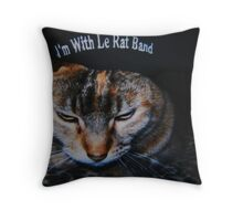 Darla in Le Rat Hat Throw Pillow