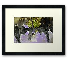 Purple Abstract Painting Print  Framed Print