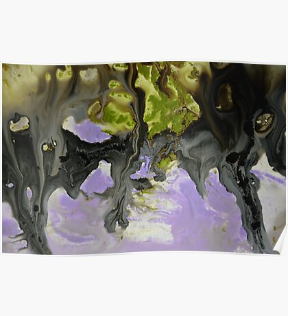 Purple Abstract Painting Print  Poster