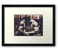 Conquer with Arnold Schwarzenegger Framed Print